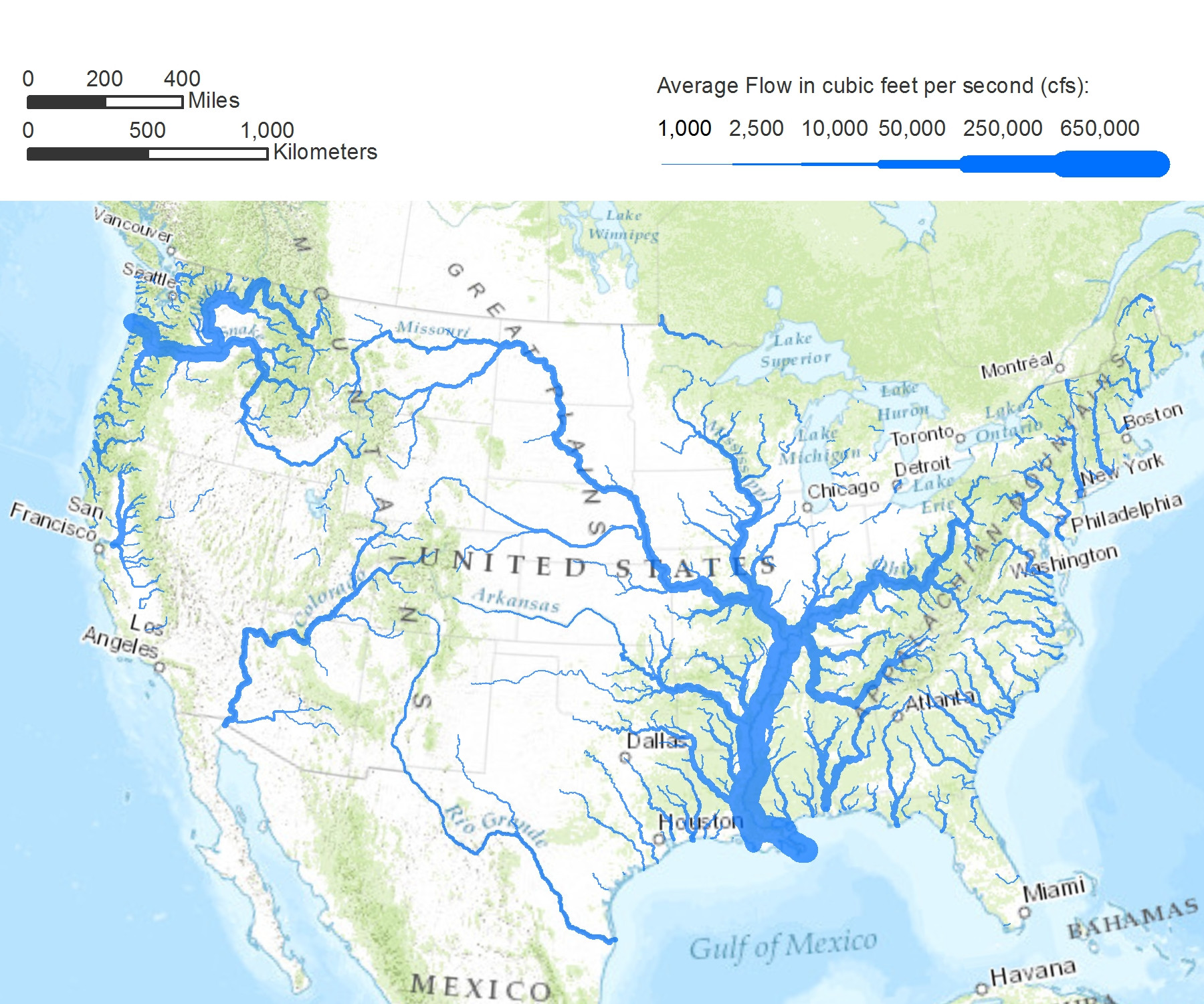 Outline Map Of The USA With States And Rivers US Rivers Map Maps - Map of northwest us rivers