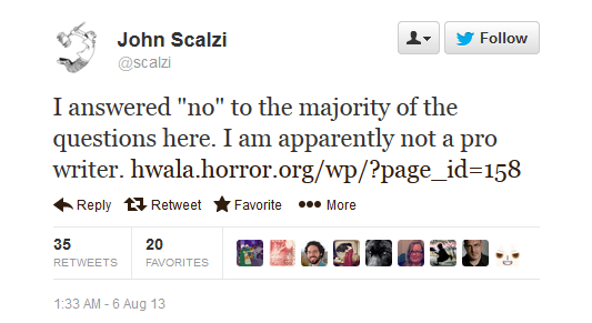 Scalzi tweet