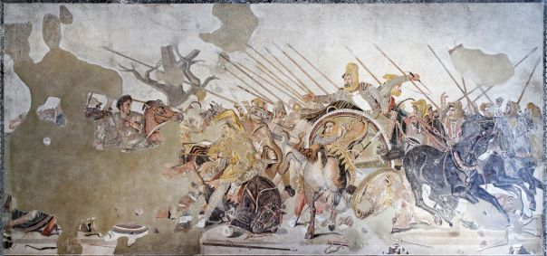 Alexander the Great mosaic found in Pompeii
