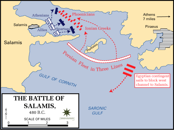 This is what the real battle looked like. Source: Wikipedia.