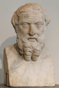 This is Herodotus. I bet he is spinning in his grave.