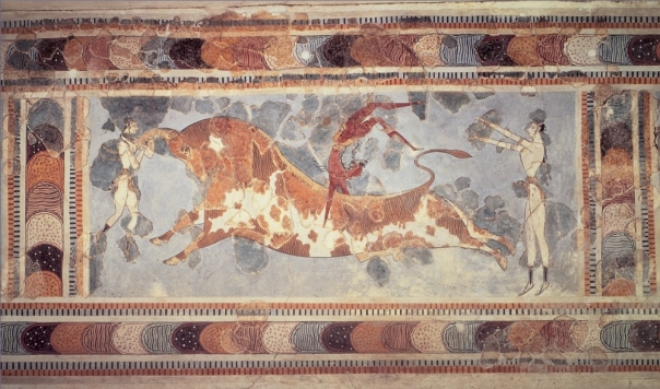 """Knossos bull"" by ArtStudy version 2.0 (Saskia Ltd, Thomson Wadsworth). Licensed under Public Domain via Wikimedia Commons - http://commons.wikimedia.org/wiki/File:Knossos_bull.jpg#mediaviewer/File:Knossos_bull.jpg"