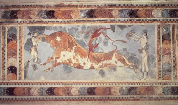 """Knossos bull"" by ArtStudy version 2.0 (Saskia Ltd, Thomson Wadsworth). Licensed under Public Domain via Wikimedia Commons - http://commons.wikimedia.org/wiki/File:Knossos_bull.jpg#mediaviewer/File:Knossos_bull.jpg"