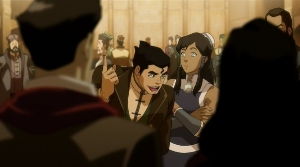 I love how Bolin comes in to summarise Mako and Asami's meeting like this.