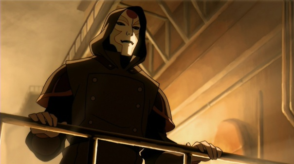"Amon: Let her go. She's the perfect messenger to tell the city of my power."" Creepy."