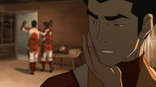 Yeah, Mako doesn't look like he's focused on his relationship with Asami at all.